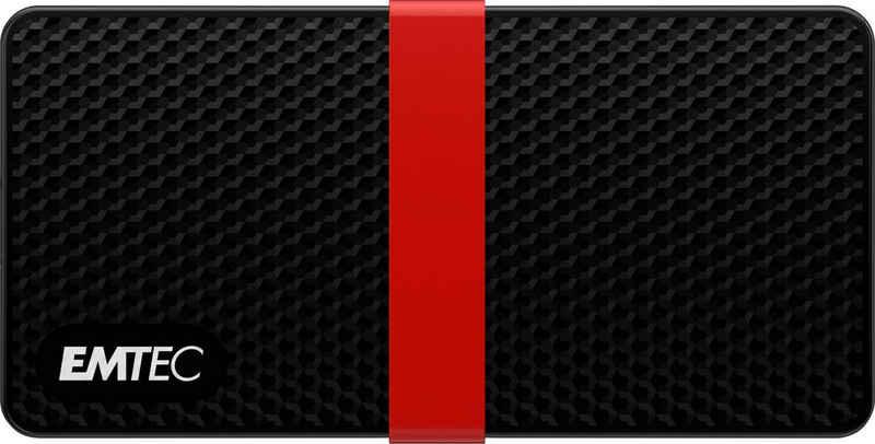 EMTEC »X200 Portable SSD« externe SSD (512 GB) 450 MB/S Lesegeschwindigkeit, 420 MB/S Schreibgeschwindigkeit)
