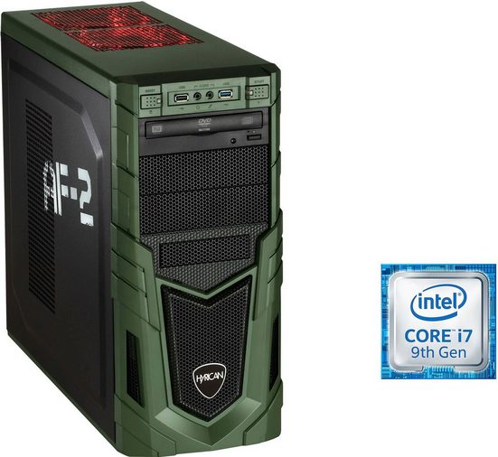 Hyrican Military Gaming 6535 Gaming-PC (Intel Core i7, RTX 2080 SUPER, 16 GB RAM, 1000 GB SSD, Luftkühlung, inkl. Office-Anwendersoftware Microsoft 365 Single im Wert von 69 Euro)