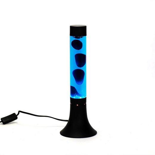 Licht-Erlebnisse Lavalampe »YVONNE Lavalampe Blau mit Kabelschalter stylisch 38cm Tischlampe Lampe«