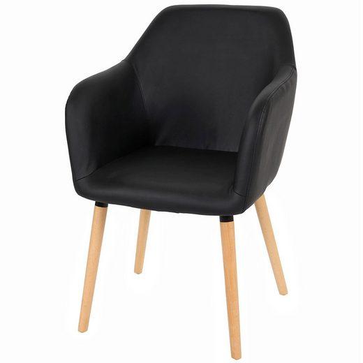 MCW Esszimmerstuhl »Vaasa T381« 50er Jahre Stil, Bequeme Sitzpolsterung, Kunststoffuntersatz unter den Füßen