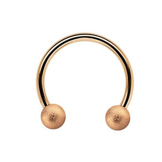 Adelia´s Nasenpiercing »CBR Piercing Circular Barbell Ring mit Kugeln diamantiert«, Aus 316l Stahl? PVD Rosegold beschichtet
