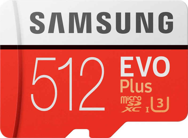 Samsung »EVO Plus 2020 microSD« Speicherkarte (512 GB, UHS Class 10, 100 MB/s Lesegeschwindigkeit)