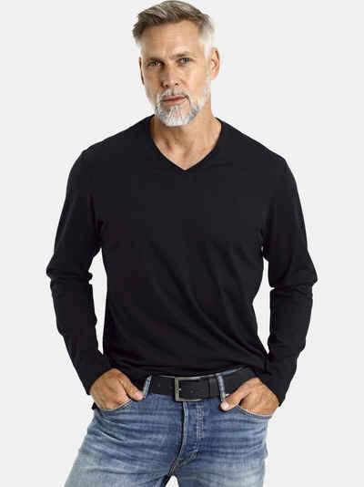 Jan Vanderstorm Langarmshirt »AMUND« (2er-Pack) 2 Basic T-Shirts, Comfort Fit