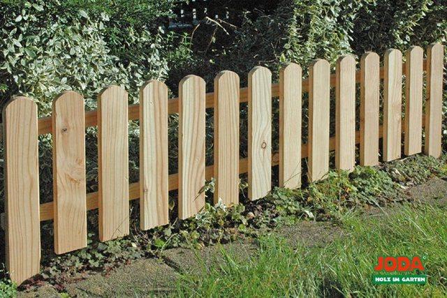 JODA Gartenstecker 4x Holz Steckzaun 120x30 aus Lärche| Beetbegrenzung| Garten Zaun | Garten > Zäune und Sichtschutz | JODA