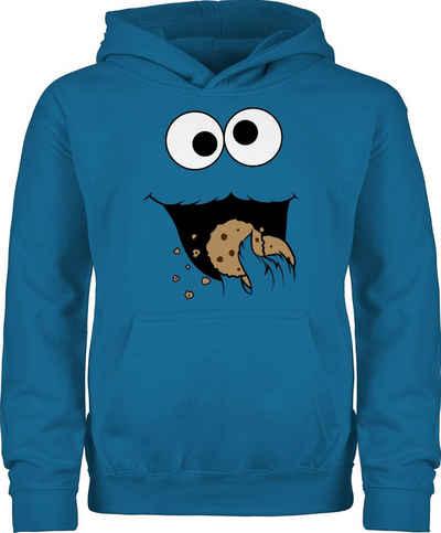 Shirtracer Hoodie »Keks-Monster - Kinder Karneval Outfit - Kinder Premium Kapuzenpullover« Faschingskostüme Ersatz Kind