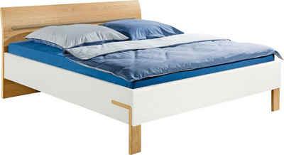 hülsta Bett »DREAM«, Breite 180 cm, mit schön geformten Kopfteil in Natureiche Furnier, inklusive Liefer- und Montageservice durch hülsta Monteure
