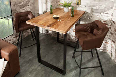 riess-ambiente Bartisch »IRON CRAFT 120cm natur«, Stehtisch · Massivholz · Industrial Design · Küche · Mangoholz