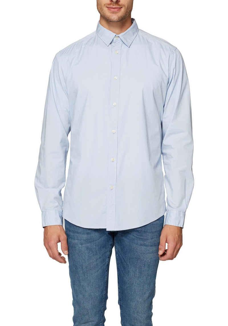 Esprit Langarmhemd mit Abnähern für eine schmale Passform