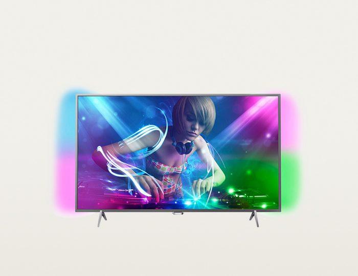 Philips 55PUS6401/12 LED TV (139 cm (55 Zoll), Ultra HD, Ambilight) inkl. 36 Monate Garantie