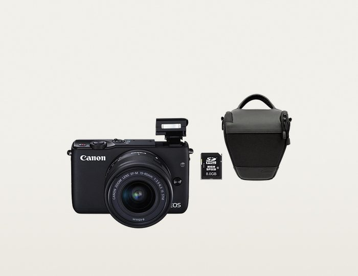 Canon EOS M10 Kit System Kamera, EF-M 15-45mm 1:3,5-6,3 IS STM Zoom, inkl. Tasche & 8GB SD-Karte