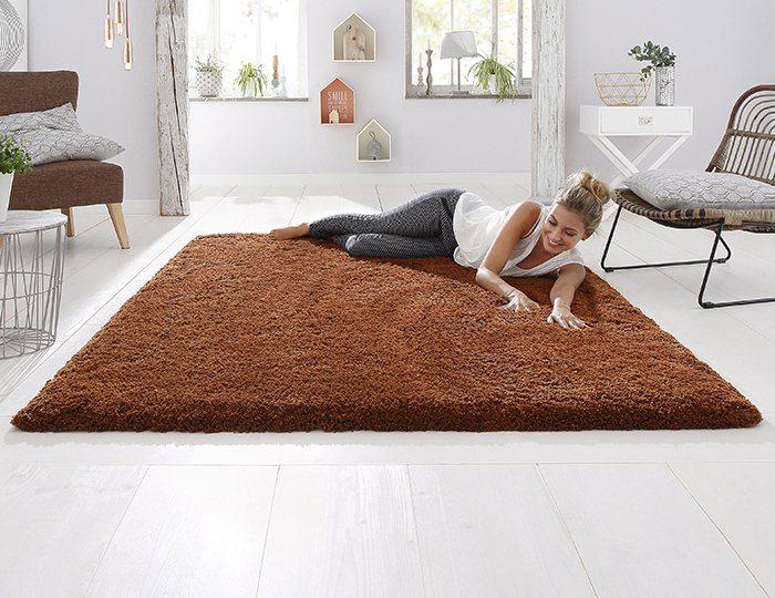 Hochflor-Teppich, my home Selection, »Desner«, Höhe 38 mm, maschinengetuftet