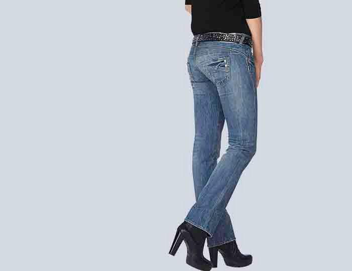Herrlicher Straight-Jeans »Piper Straight«, mit Strassdetails