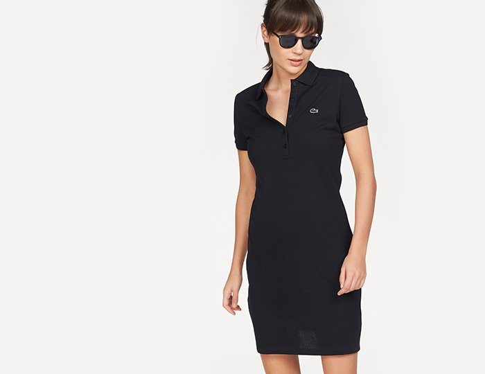 Lacoste Shirtkleid, in leicht taillierter Form