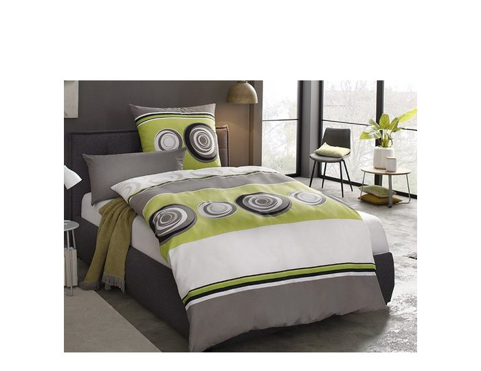 Bettwäsche »Peta«, my home, mit Streifen und Kreisen