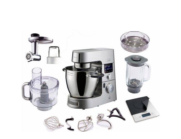 KENWOOD Küchenmaschine mit Kochfunktion Cooking Chef Gourmet KCC9060S, 1500 W, 6,7 l Schüssel, inkl. Zubehör im Wert von UVP € 440,-
