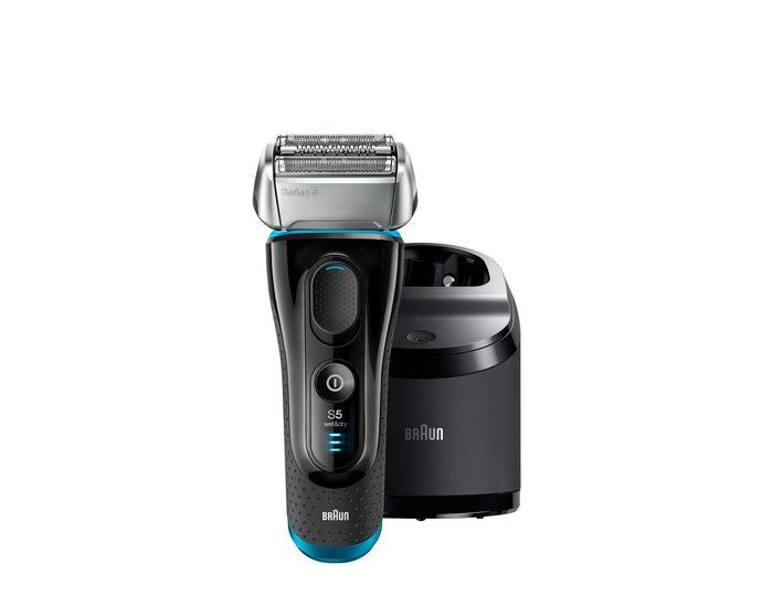 Braun Elektrorasierer Series 5 5190cc , mit Reinigungsstation, Rasierapparat Wet und Dry