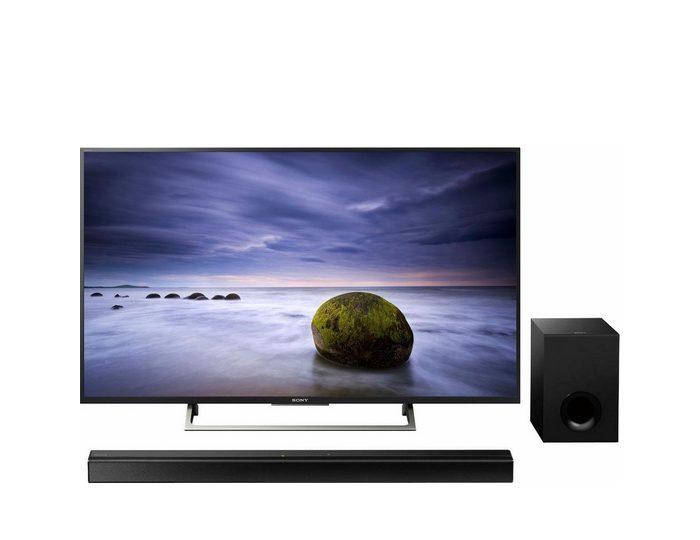 Sony Sparset KD55XE7005BAEP + Soundbar HTCT80 LED-Fernseher (139 cm/55 Zoll, 4K Ultra HD, Smart-TV)