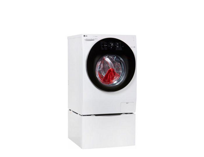 LG Waschmaschine F 4WM 12TWIN = F 14WM 12GT + T 7WM 2Mini, 12 kg, 1400 U/Min, TwinWash