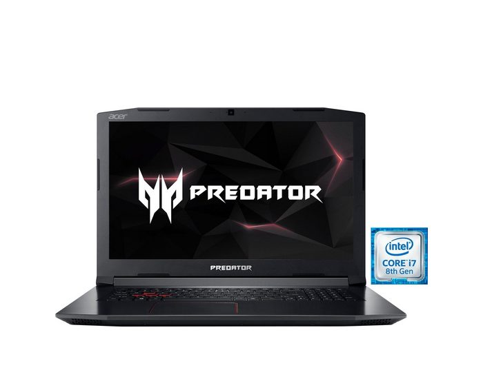 Acer Predator Helios 300 (PH317-52-75L8) Gaming-Notebook (43,9 cm/17,3 Zoll, Intel Core i7, GeForce, 1000 GB HDD, 256 GB SSD)