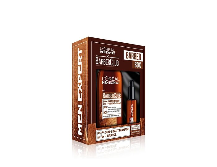 L'ORÉAL PARIS MEN EXPERT Bartpflege-Set »Barber Club Bartöl und 3-in-1 Bartshampoo«, 2-tlg.