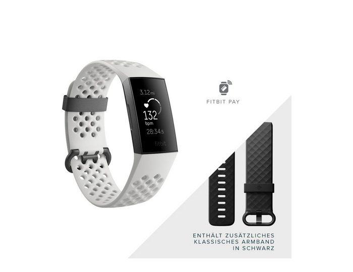 fitbit Activity Tracker Charge 3 »Sonderedition mit NFC und schwarzem Zusatzarmband«