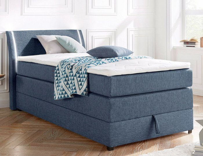 Breckle Boxspringbett mit Bettkasten und LED-Beleuchtung