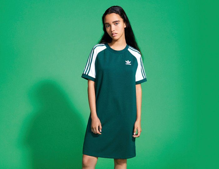 adidas Originals Shirtkleid »RAGLAN DRESS«, Raglanärmel