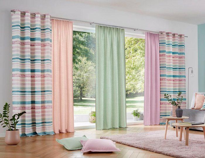 Vorhang »Garden Solid«, Guido Maria Kretschmer Home&Living, Multifunktionsband (2 Stück)