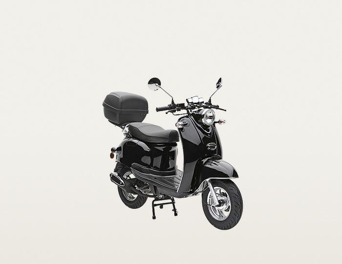 Nova Motors SET: Motorroller inkl. Topcase, Faltgarage, Kettenschloss, 49 ccm, 45 km/h, »Venezia«