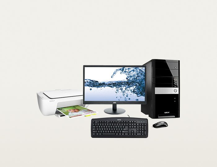 Hyrican PC Set, Intel® Pentium® G4400 , 8GB, 1TB, Monitor + Drucker »PC-Set SET01094«