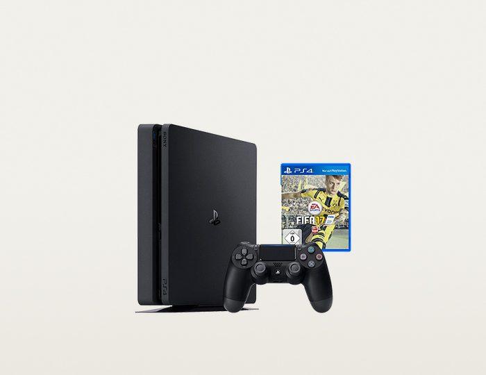 PlayStation4 1TB Slim + Fifa 17 Konsolen-Set