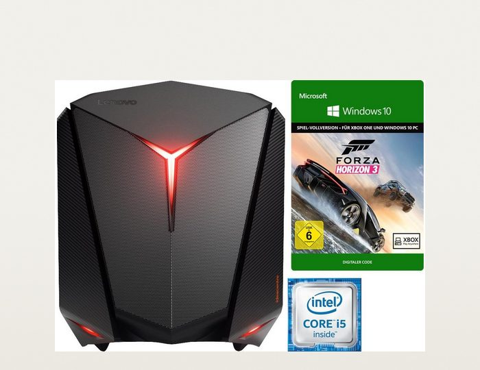 Lenovo ideacentre Y710 Cube-15ISH Gaming-PC, Intel® Core™ i5, 12288 MB DDR4, NVIDIA Geforce GTX1060
