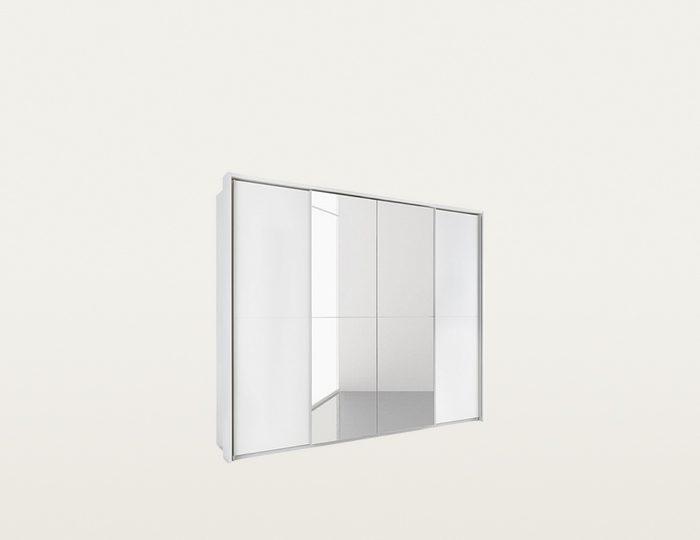 Schwebetürenschrank mit Spiegel