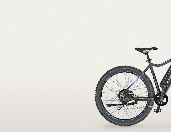 FISCHER Mountainbike E-Bike, 48V/250W Hinterradmotor, 27,5+ Zoll, 9 Gang-Shimano XT Schaltwerk