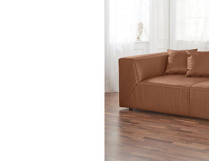Alte Gerberei 2-Sitzer Bigsofa »Luis« inklusive Zierkissen