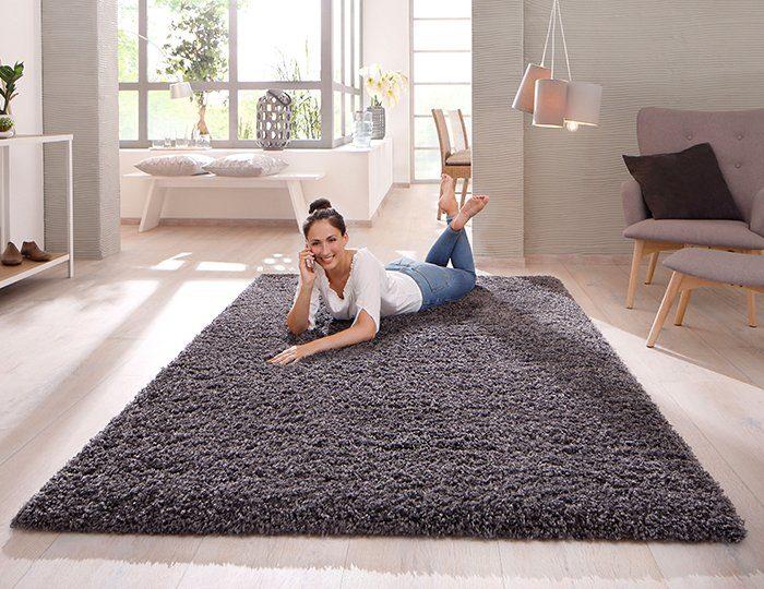 Hochflor-Teppich »Viva«, Home affaire Collection, rechteckig, Höhe 45 mm, Höhe 45 mm, gewebt