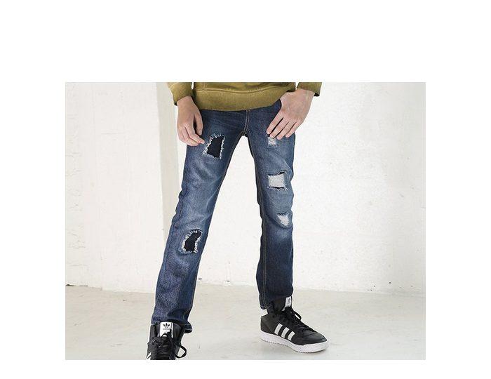 Arizona Regular-fit-Jeans mit geradem Bein und mit coolen destroyed Effekten