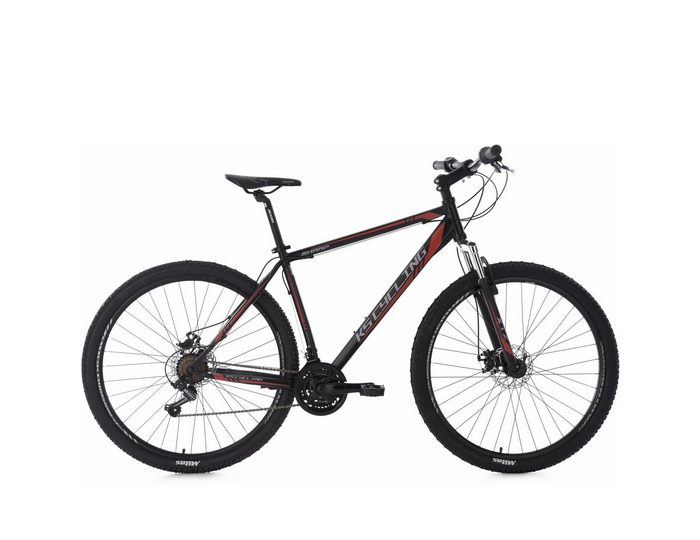 KS Cycling Hardtail-Mountainbike Herren, 26/29 Zoll, 21 Gang-Shimano Tourney, schwarz-rot, »Sharp«