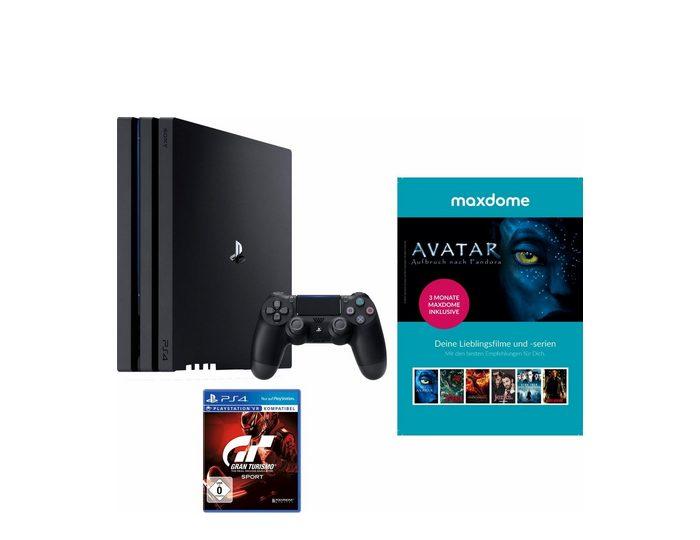 PlayStation 4 (PS4) Pro 1TB + Gran Turismo Sport + 3 Monate Maxdome