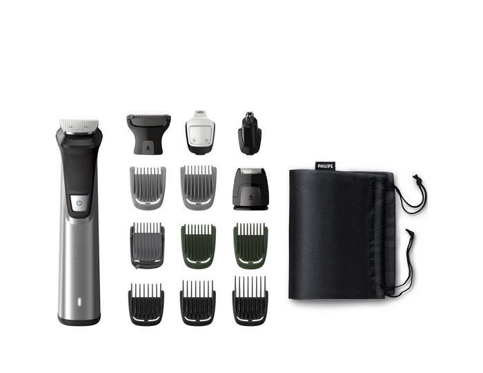 Philips Multifunktionstrimmer MG7745/15, mit 14 Zubehörteilen für Körper und Gesicht