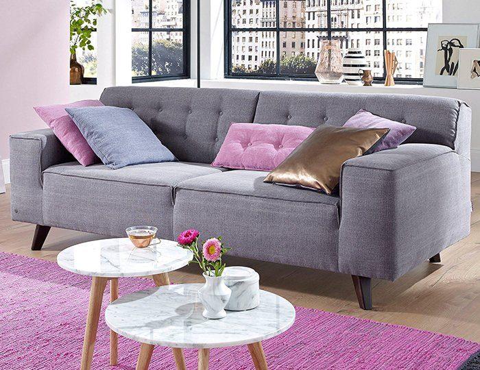 TOM TAILOR 2,5-Sitzer Sofa »NORDIC CHIC« im Retrolook, Füße wengefarben