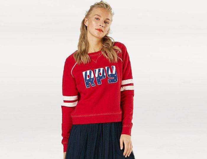 Replay Sweatshirt, Stickerei