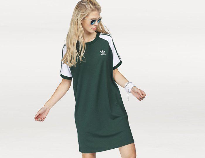 adidas Originals Shirtkleid »RAGLAN DRESS«, Raglanärmel