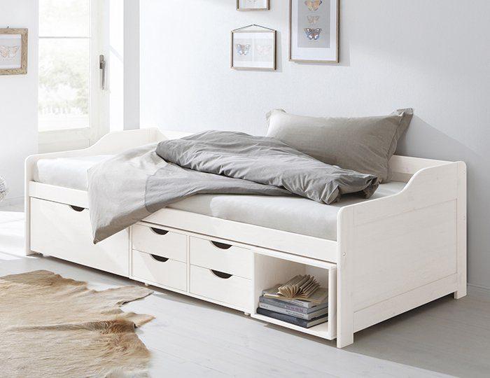 Home affaire Stauraum-Bett »Nils«, mit 5 Schubladen und einem Fach, Liegefläche: 90/200 cm