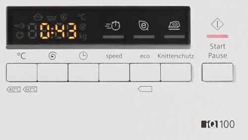 RCP 424309145 SIEMENS IQ100 WM14B2ECO Detail Display