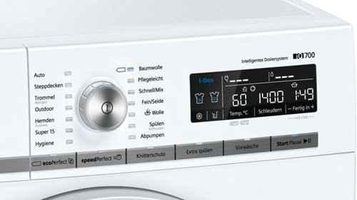 RCP 448878985 Siemens iQ700 WM14W6ECO Detail Display