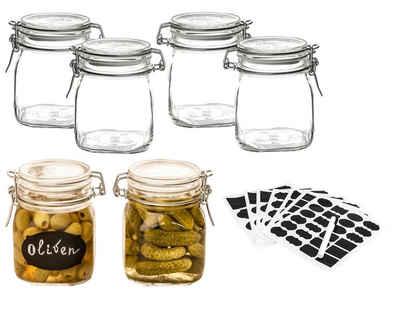 Bormioli Rocco Einmachglas »Drahtbügelgläser von Bormioli Fido 6 Stück«, Glas. Metall. Gummi