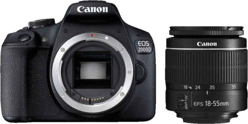 Canon »EOS 2000D Kit 18-55 mm DC III« Spiegelreflexkamera (EF-S 18-55mm f/3.5-5.6 III, 24,1 MP, WLAN (WiFi), NFC)