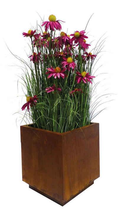BADEKO Übertopf »Übertopf in Rostoptik - edler Topf um Ihre Pflanzen toll in Szene zu setzen - Rost Dekoration zum Bepflanzen«