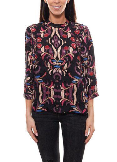 Vero Moda Blusentop »VERO MODA Tunika leicht transparente Chiffon Bluse für Damen Frühlings-Shirt Schwarz«